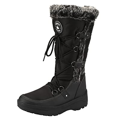 d943e6c8e Sibba Ladies Knee High Snow Boots Waterproof Fur Lined Winter Snow Warm  Boot UK 3.5-10