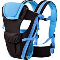 My NewBorn Cotton Baby Carrier Shoulder Sling Carry Bag and Extra Safe Waist Belt (Blue)