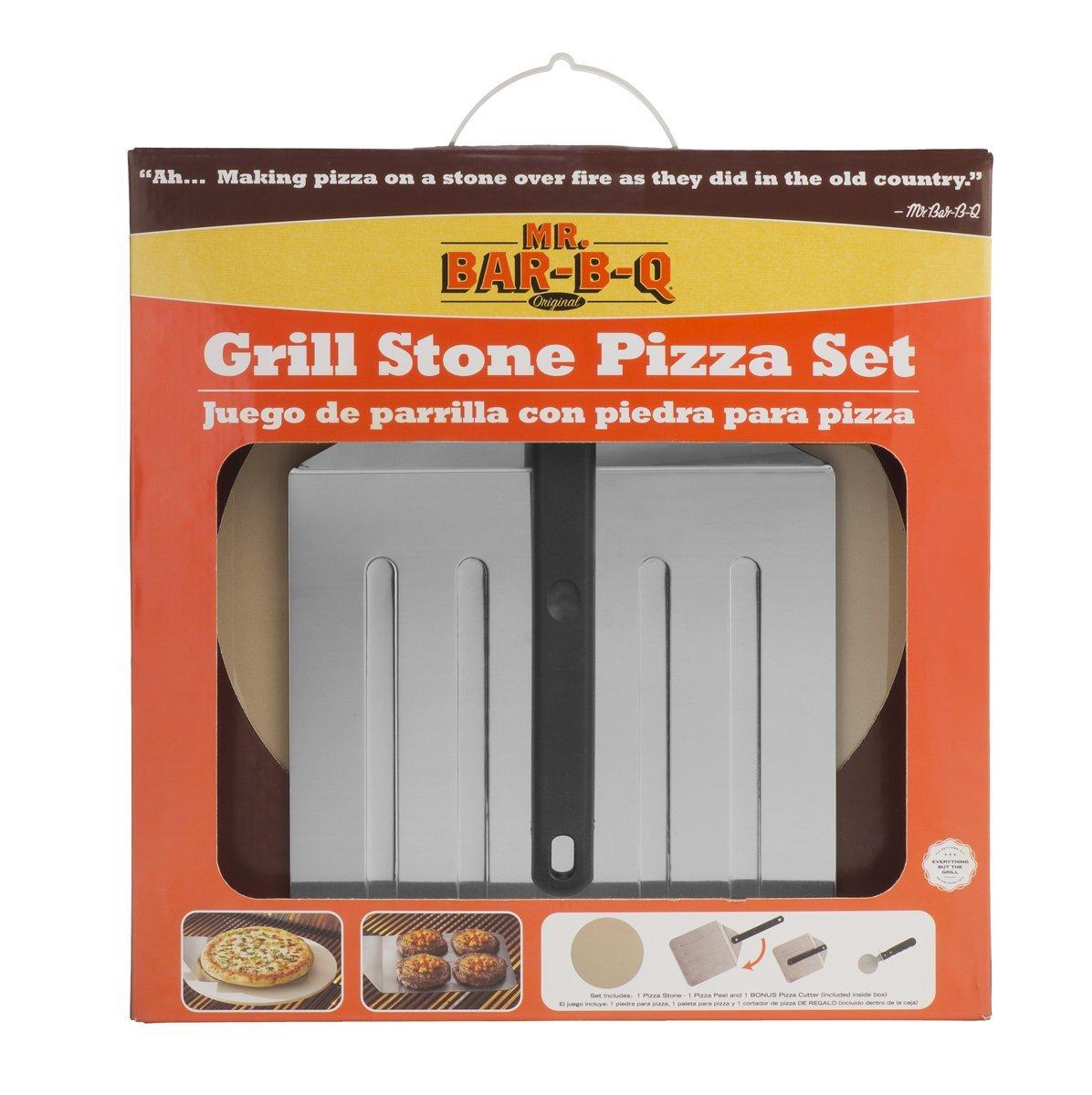 Bar-B-Q 06187X Grill Stone Pizza Set Inc. Mr
