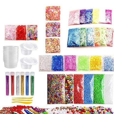 Eternitry Kit de Suministros de Limo Bolas de Espuma de Espuma de Colores Granos Glitter Kit Haciendo Chicas ...