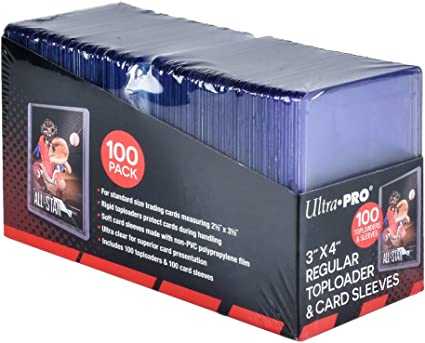 Card Sleeves /& Storage Box Ultra Pro Toploader Combo Includes Toploaders