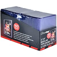 """$30 » Ultra PRO 3"""" x 4"""" Toploaders and Clear Sleeves for Collectible Trading Cards (100 ct.)"""