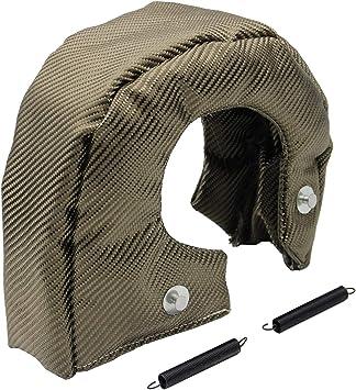 T25 TURBO//TURBOCHARGER TURBINE 100/% TITANIUM HEAT-WRAP BLANKET HEAT SHIELD COVER