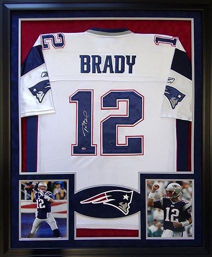 tom brady signed jersey framed