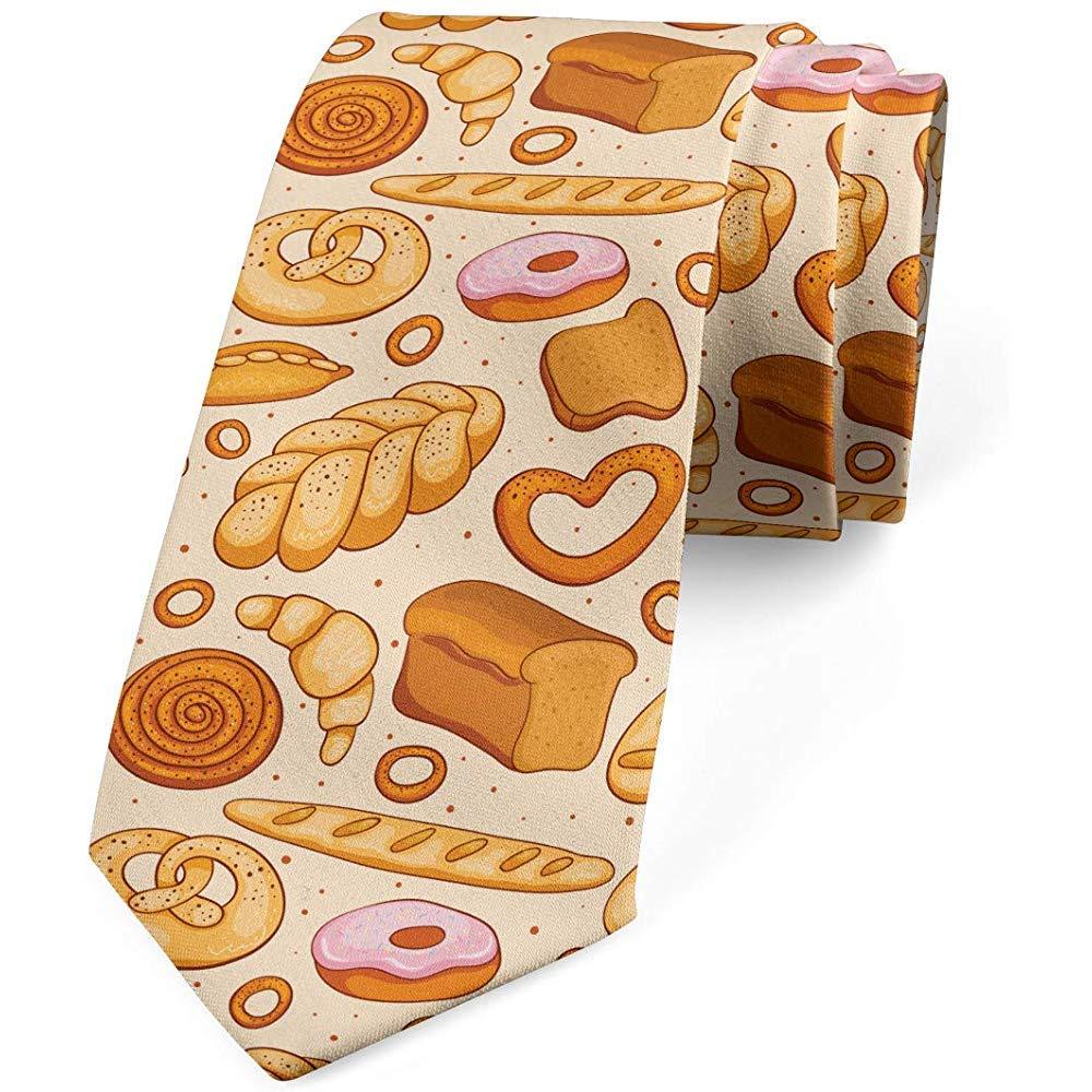 Corbata, Bagel de Croissant de Pan de Panadería, Beige Marrón Rosa ...