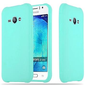 368545f2235 Cadorabo Funda para Samsung Galaxy J1 Ace en Candy Azul: Amazon.es:  Electrónica