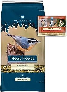 BLUE SEAL Neat Feast Bird Seed & Woodpecker Suet Cake Bundle