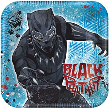 Black Panther Small Paper Plates (8ct)