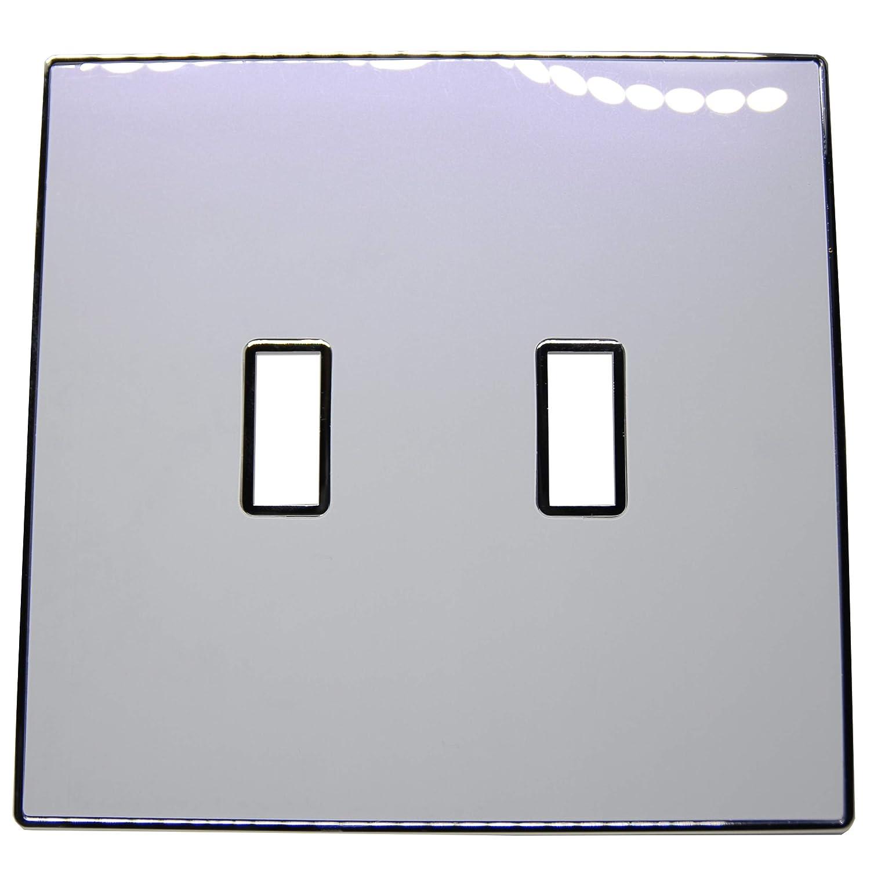 Urban Chameleon 4.92 プレミアム2ギャングトグルライトスイッチカバー (height) (壁 Chameleon/スイッチプレート) 5.12 inches (length) x 4.92 inches (height) マルチカラー B07GD34L8N Chameleon White-Purple Pearl, オオフナトシ:b0d869fa --- itxassou.fr