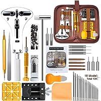Kit de Reparación de Relojes,E·Durable Herramientas de Reloj, con Abridor de Repara Pulsera de Reloj Ajustar Correa…