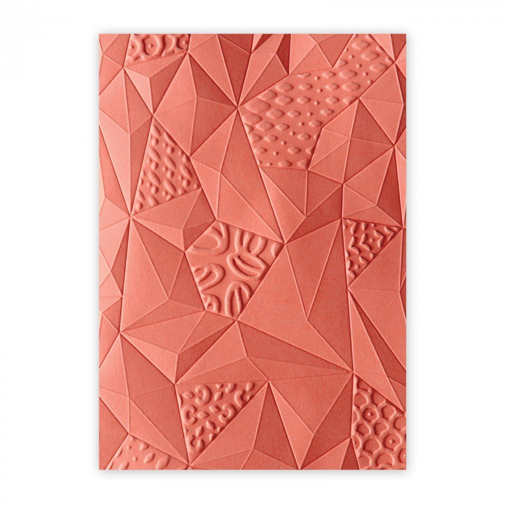 Sizzix 661259 3-D Textured Impressions Embossing Folder, Jumbled Triangles by Katelyn Lizardi Ellison