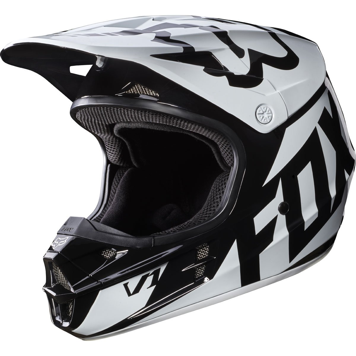 2017 Fox Racing V1 Race Helmet-Black-L by Fox Racing