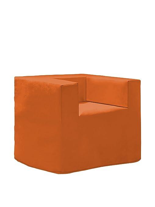 Poltrona Letto Ortopedica.13casa Evolution Plus A5 Pouff Poltrona Letto Ortopedico Dim 78x78x69 H Cm Col Arancione Mat Metall
