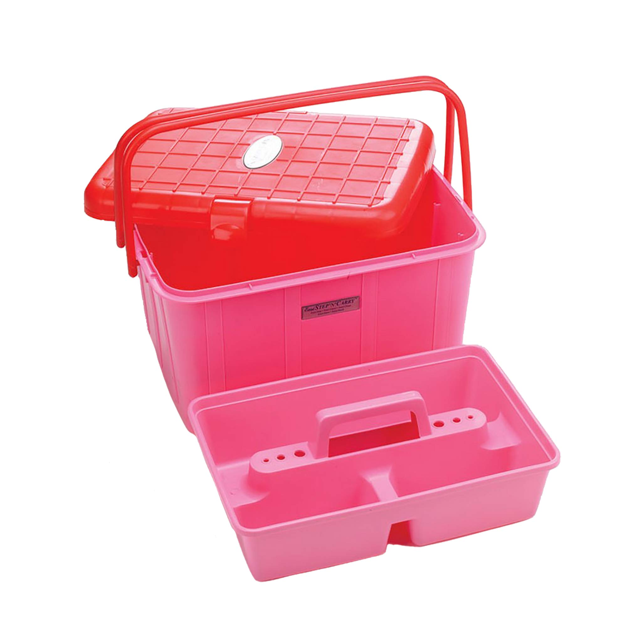 Lincoln Easi Step And Carry Tack Box (One Size) (Cerise Pink)