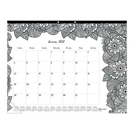 blueline doodleplan desk pad calendar wcoloring pages 22 x 17 2018