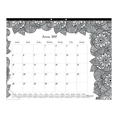 Amazon.com : Blueline DoodlePlan Desk Pad Calendar w/Coloring Pages ...