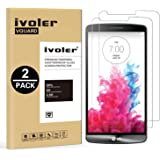 iVoler [2 Unidades] Protector de Pantalla para LG G3, Cristal Vidrio Templado Premium [9H Dureza] [Ultra Fina 0,3mm] [2.5D Round Edge]