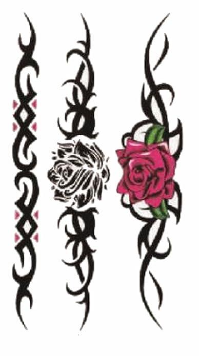 Tatuaje joyas efímeras rosas tribal.: Amazon.es: Joyería