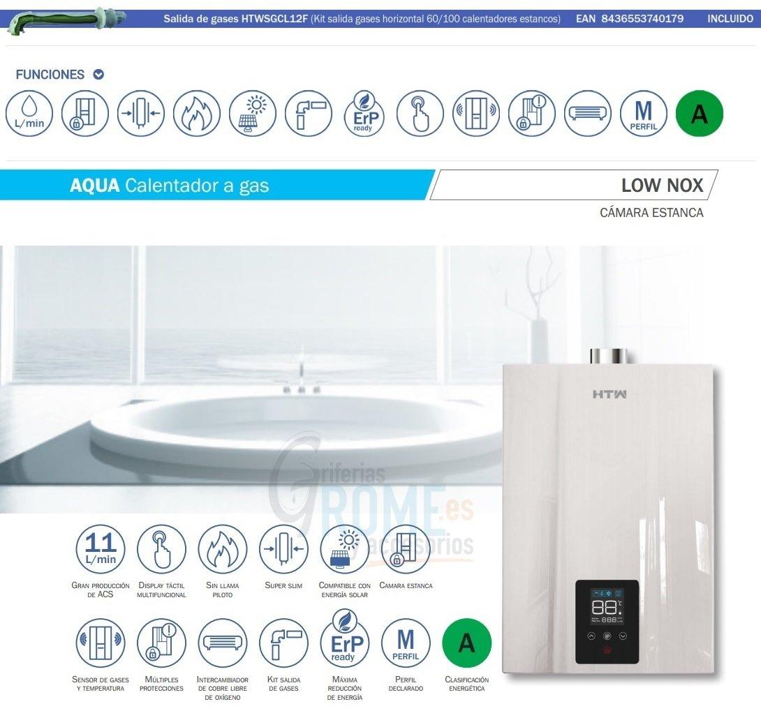 HTW Calentador Estanco LowNox 11 litros a Gas by Gas Natural: Amazon.es: Hogar