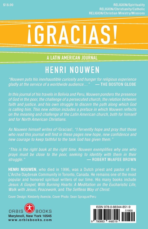 Gracias: A Latin American Journal: Henri J. M. Nouwen: 9780883448519 ...