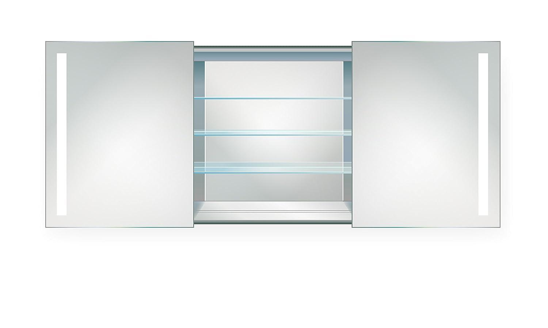   LED Medicineキャビネット48インチx 30インチ  Lighted 2スライドミラードア& Defogger + 3ガラスシェルフ   B072K3169Q
