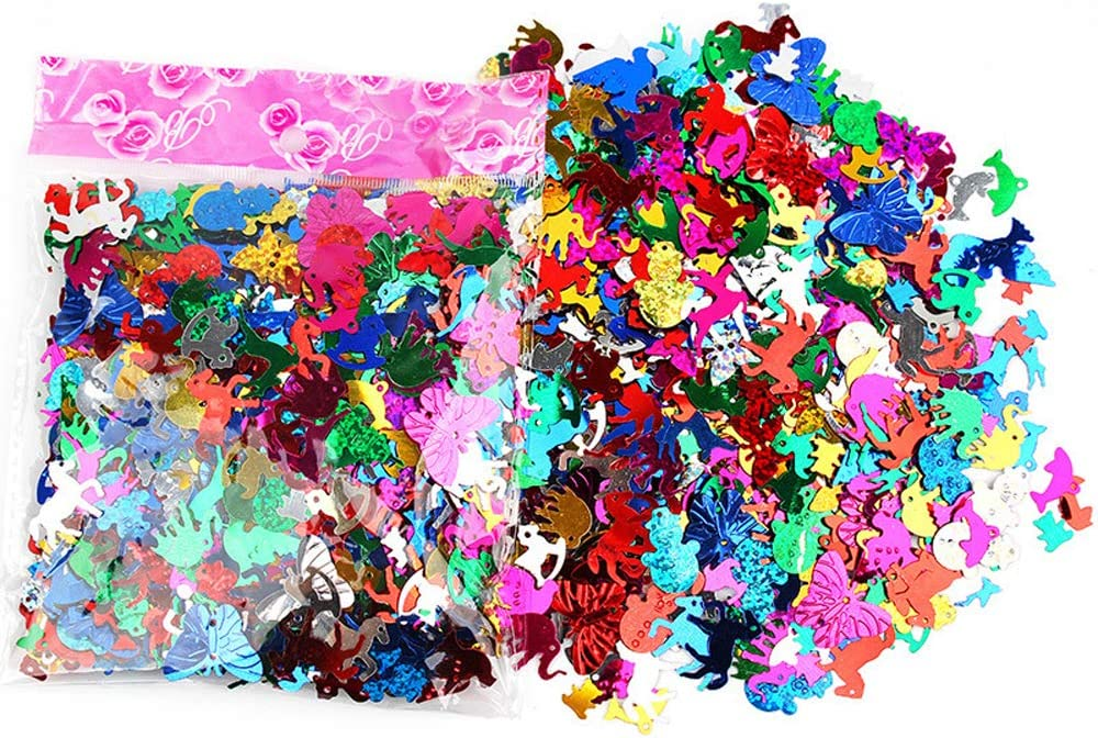 Animal Creative Color Beads Sequins Greeting Card Decoration Gold Foil Iron Slices Sequins and Spangles for Childrens Handmade DIY