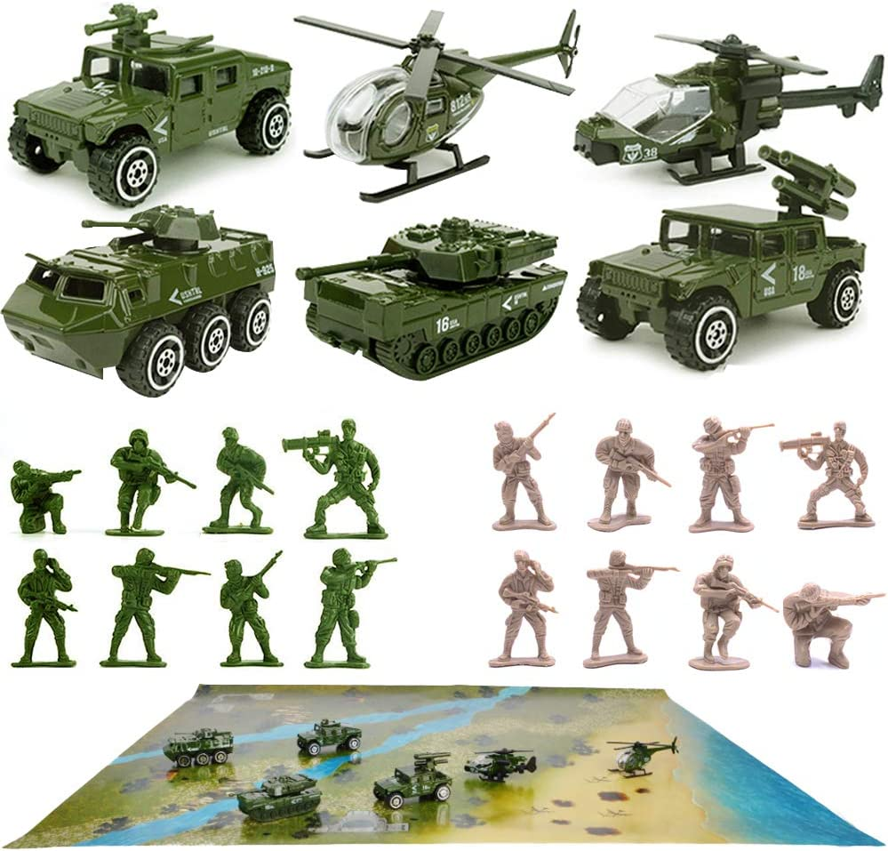 1//16 Scale Diecast Simulated Military Armored Vehicle Model 23.5 x 12 x 12cm