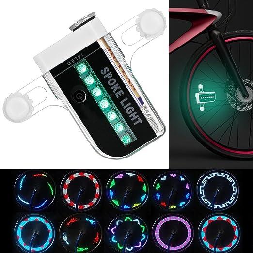 2 opinioni per Luminoso Bike Wheel Lights- impermeabile 14 LED ha parlato la luce per la guida