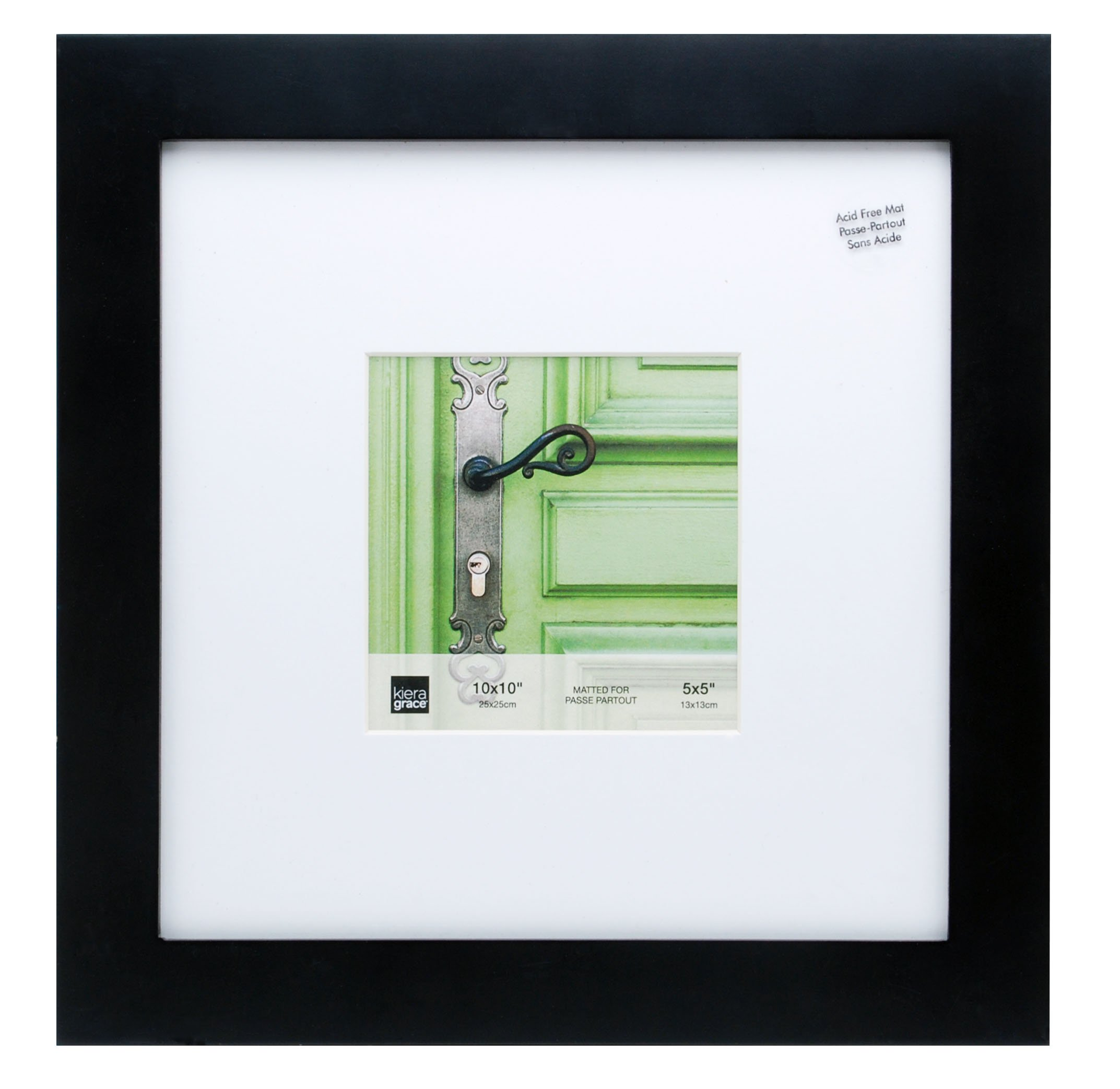 Kiera Grace PH43456-2 Langford Wood Picture Frame, 10 x 10, Black