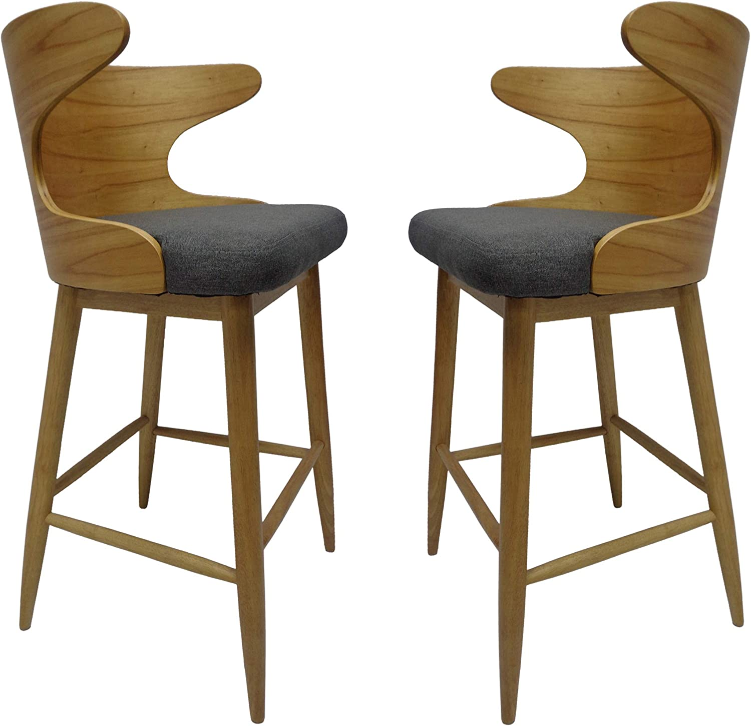 3. Cushioned Bar Stools with Arms Truda mid Century