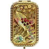 Lohome Art Nouveau dikdörtgen Handheld kırışıklıklar Make-up klasik duvar aynası tavus kuşu Deko Fashion Beauty aksesuarı