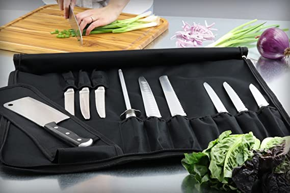 Amazon.com: Cuchillo de chef Roll Bag (14 slots) Holds 10 ...
