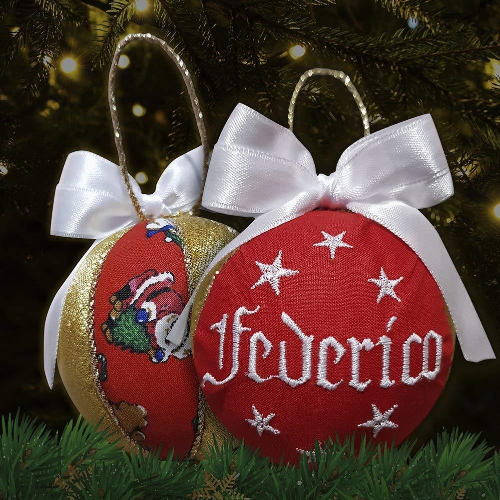 Sfera natalizia personalizzata palla di natale con nome