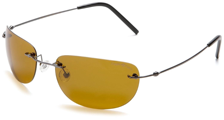 Eagle Eyes Lightweight Polarized Sunglasses - The Airos UltraLite Titanium with Gunmetal Stainless Frame
