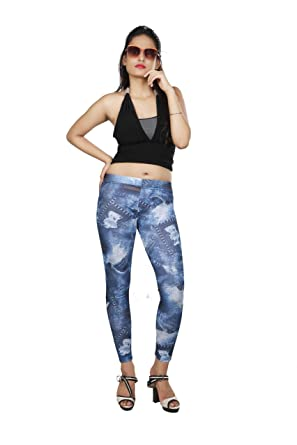 fe2ea420d022f Dream Girl Women's Denim Look Ankle Length Leggings: Amazon.in: Clothing &  Accessories