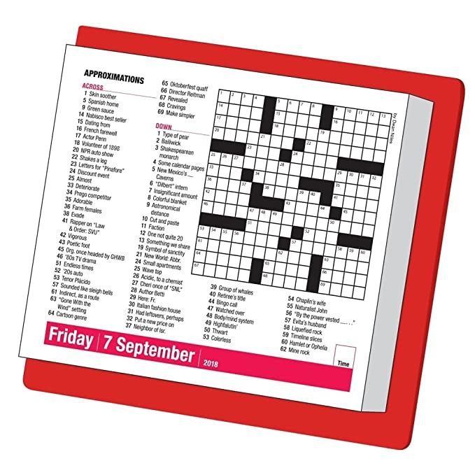 Amazon 10 Minute Crossword Puzzles 2018 Page A Day Calendar