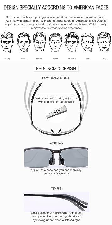 Amazon.com : 2017 New HD Discoloration Lense Sports Style Sunglasses ...