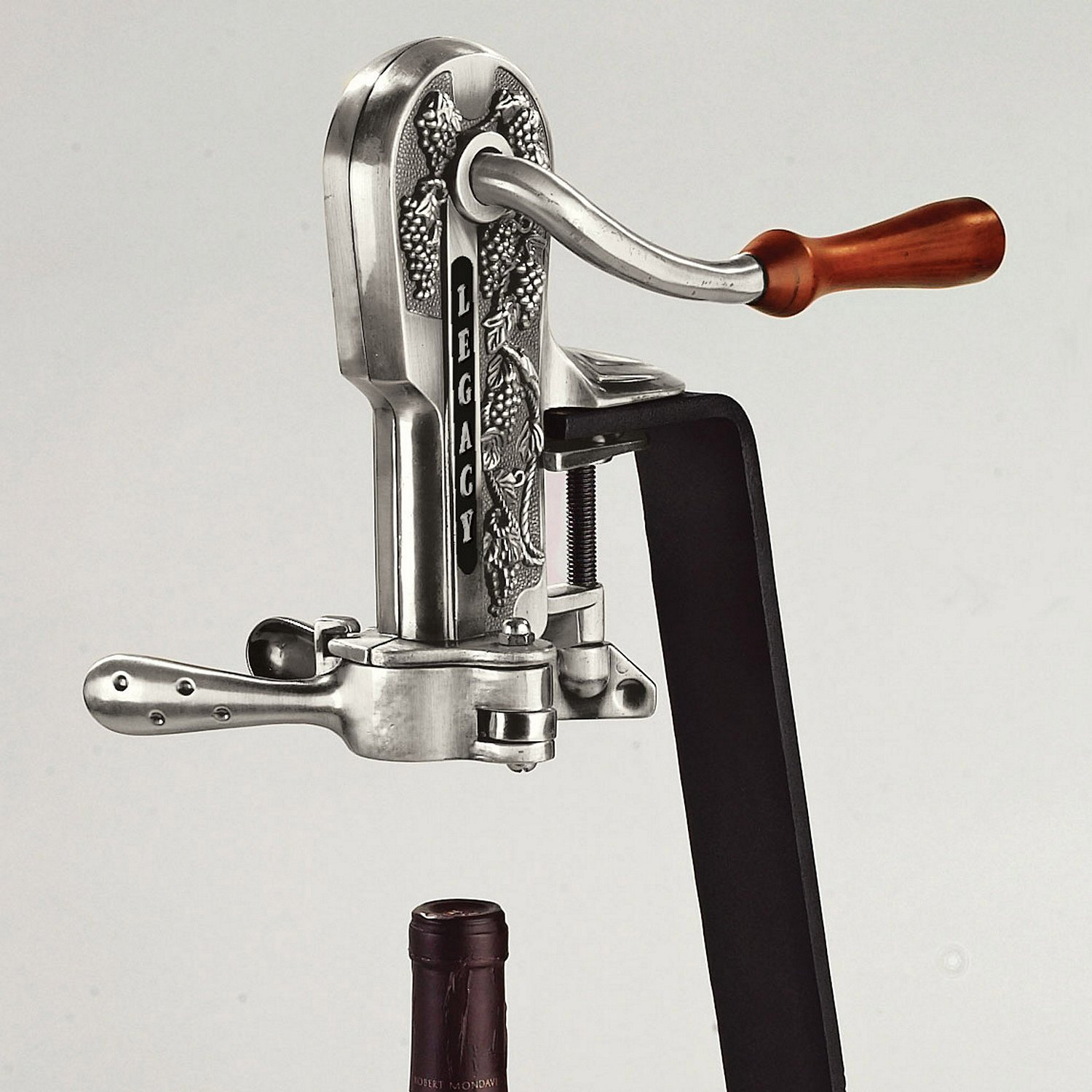 Wine Enthusiast Legacy Corkscrew, Antique Pewter