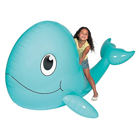 Amazon Com Fun Express Giant Inflate Whale Toys Inflates