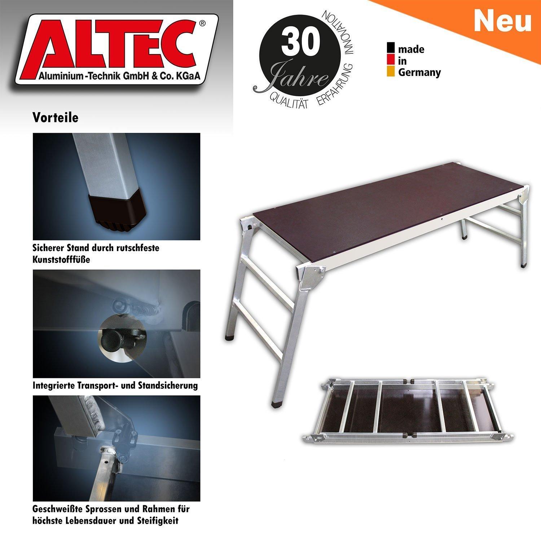 ALTEC klappbare Arbeitsplattform Aluminium 58 x 144 cm KlappFix-S