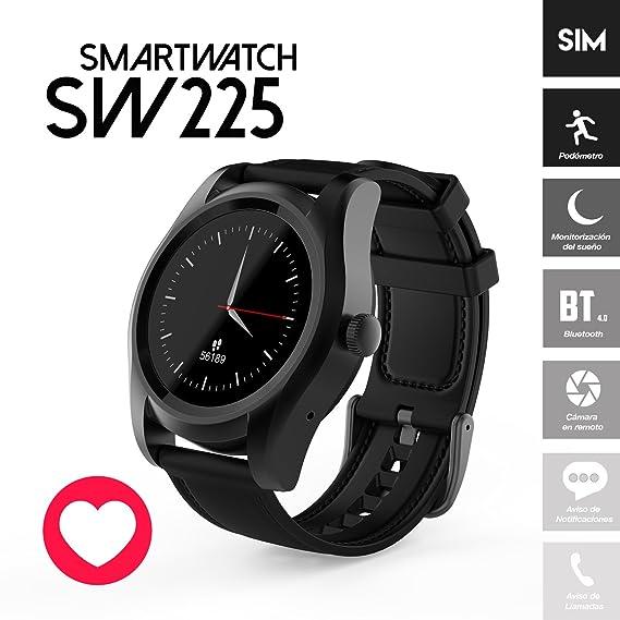 Prixton SW225 Smartwatch IOS/Android con Ranura de Tarjeta SIM y Pulsómetro Dinámico