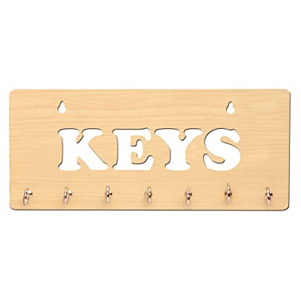 Sehaz Artworks Keys 7 Hooks Wooden Key Holder  25 cm x 11 cm  Key Holders