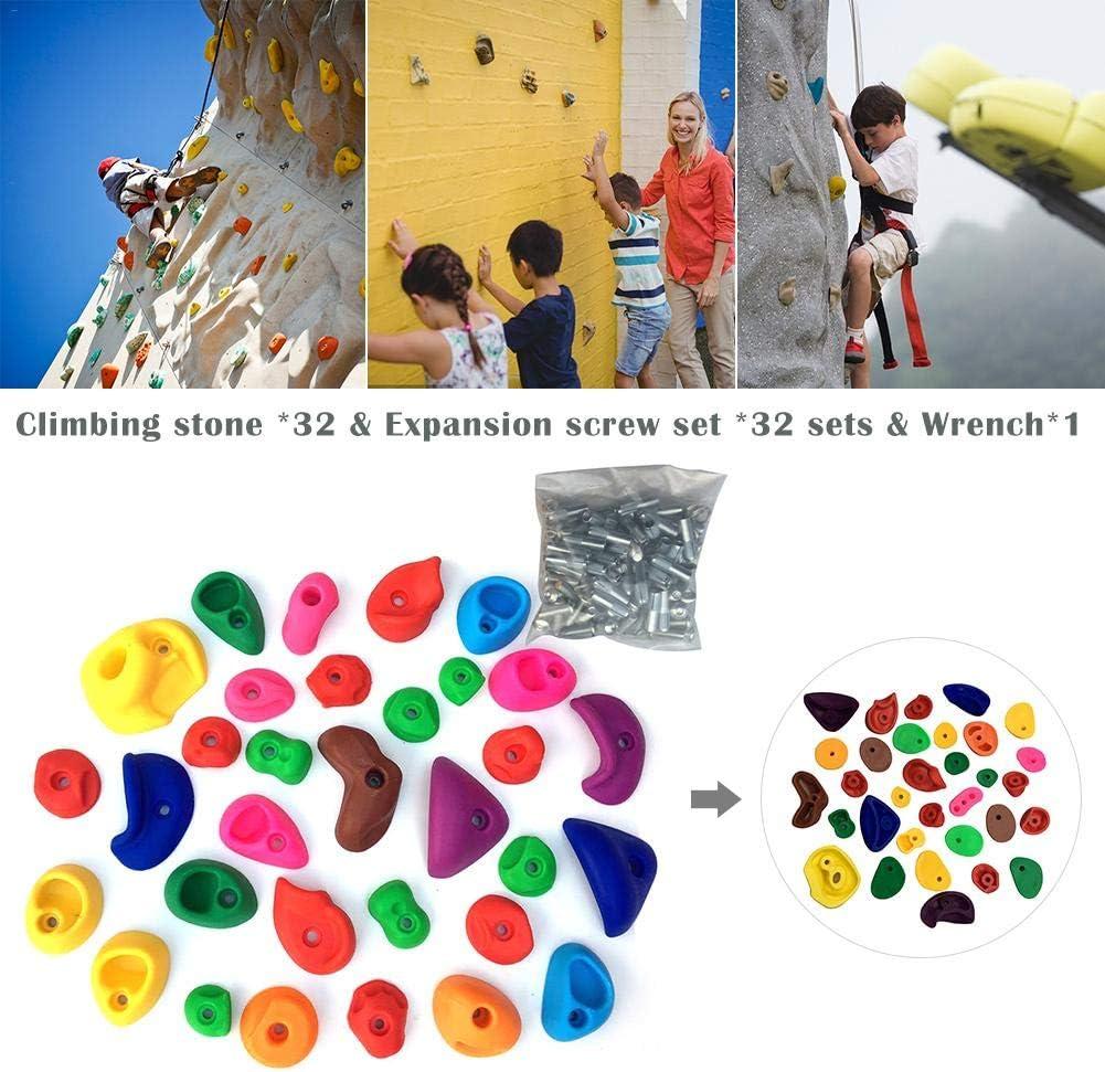 Escalada para niños sostiene rocas de escalada para pared de ...