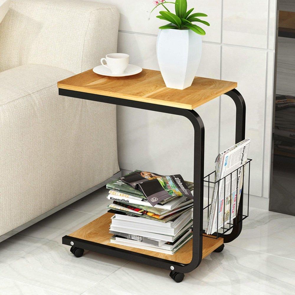 FEIFEI Mini tavolino da salotto mobile moderno e moderno da comodino 51 * 30 * 56CM risparmiare spazio ( Colore : 01 ) YANG