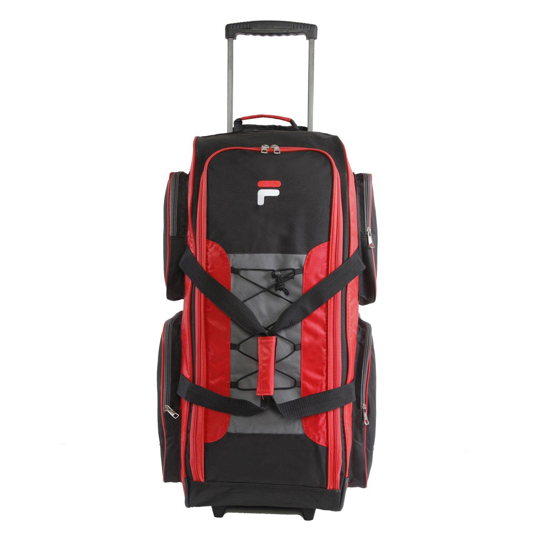 Fila 32' Large Lightweight Rolling Duffel Bag, Black, One Size