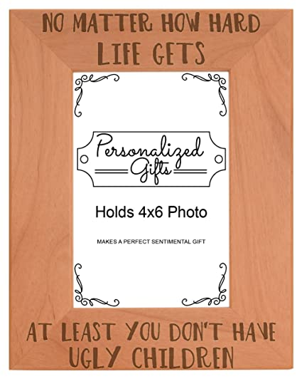 Personalized Gifts Family Tree Picture Frame at Least You Don't Have Ugly Children Family