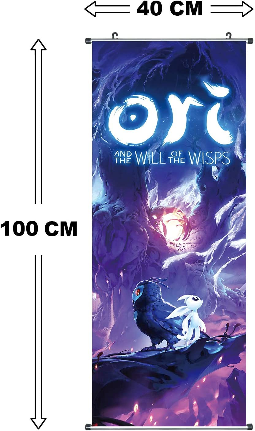 Poster 100x40cm Kakemono aus Stoff CoolChange Gro/ßes Ori and The Will of The Wisps Rollbild