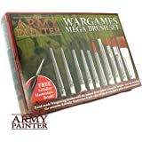 10 Wargamer Brushes with Triangular Handles for Perfect Grip - Durable Army Painter Brushes for Warhammer Miniatures and Models - The Army Painter Wargames Mega Brush Set, Free Masterclass Brush