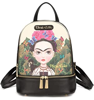 Frida Kahlo Cartoon Hologram Collection 9 Height Cute Backpack