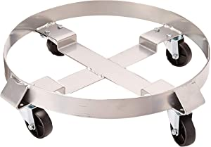 5044 Pentagon Tool | Heavy Duty | 5 and 30-Gallon Drum Dolly | Single | Silver